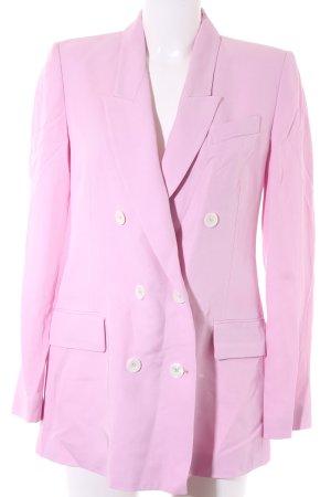 Zara Blazer largo rosa claro look casual