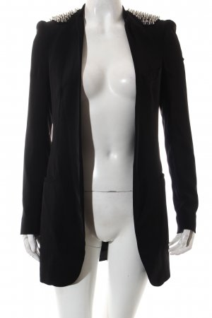 Zara Long-Blazer schwarz Punk-Look