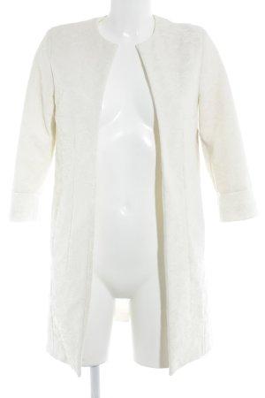 Zara Blazer long blanc cassé motif floral style d'affaires