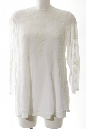 Zara Long-Bluse wollweiß extravaganter Stil