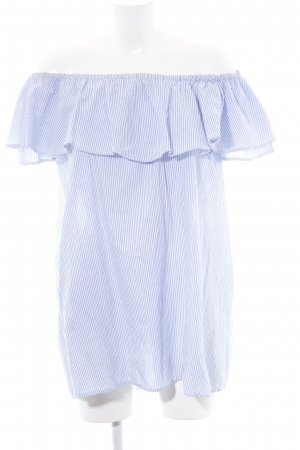 Zara Long Blouse white-blue striped pattern casual look
