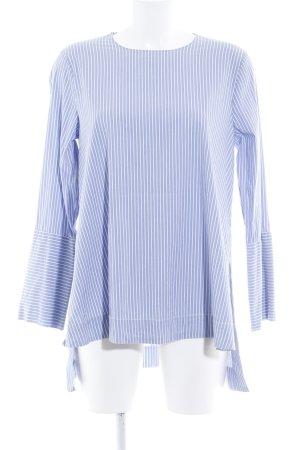 Zara Long Blouse azure striped pattern elegant