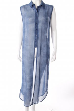 Zara Long-Bluse Jeans-Optik