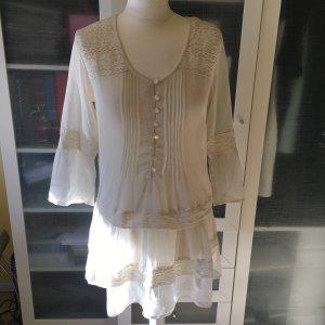 Zara Tunic Blouse white-natural white