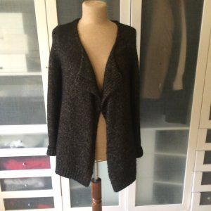 Zara Coarse Knitted Jacket black wool