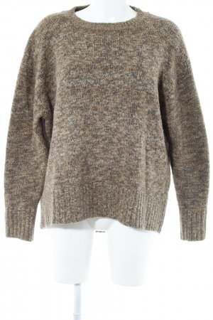 Zara Longpullover braun-graubraun meliert Street-Fashion-Look