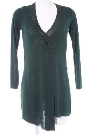 Zara Longpullover dunkelgrün Casual-Look