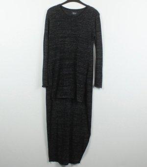 Zara Knit Jersey largo gris oscuro tejido mezclado