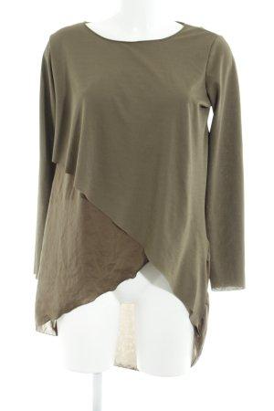 Zara Long Sweater olive green casual look