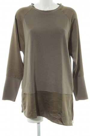 Zara Pull long vert olive style décontracté