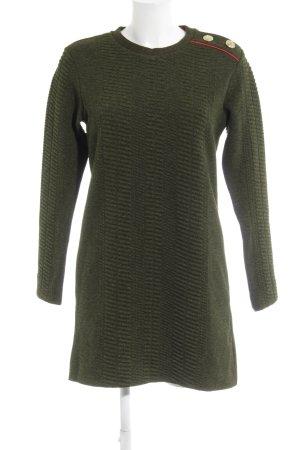 Zara Jersey largo verde bosque-verde oscuro look casual