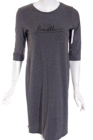 Zara Longshirt dunkelgrau-schwarz Schriftzug gedruckt Casual-Look