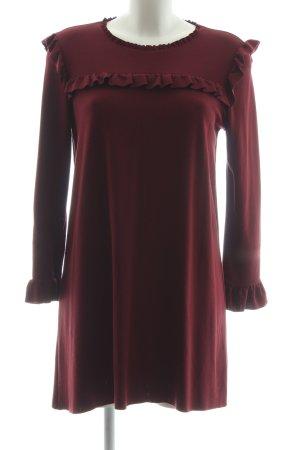 Zara Longshirt dunkelrot Elegant