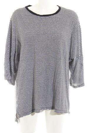 Zara Longshirt schwarz-weiß Streifenmuster Casual-Look