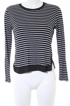 Zara Haut long blanc-noir motif rayé style décontracté