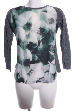 Zara Longsleeve Blumenmuster Casual-Look