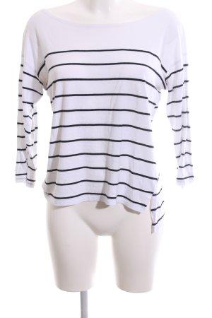 Zara Manica lunga bianco-nero motivo a righe stile casual