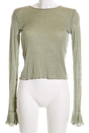 Zara Longsleeve grün Casual-Look