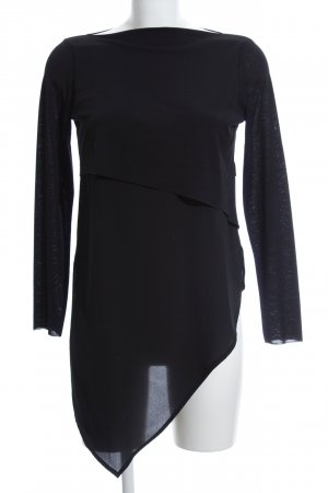 Zara Longsleeve schwarz Business-Look