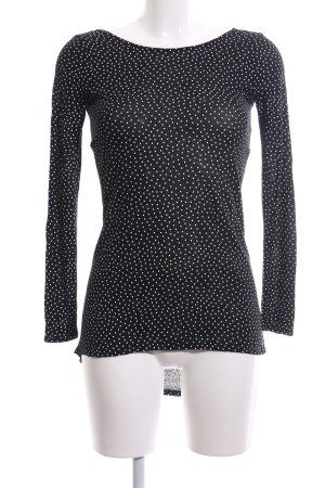 Zara Longsleeve schwarz-weiß Allover-Druck Casual-Look