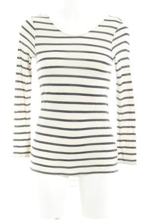 Zara Manica lunga crema-talpa motivo a righe stile casual