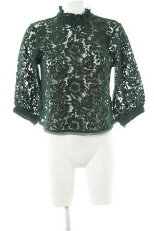 Zara Longsleeve dunkelgrün schlichter Stil