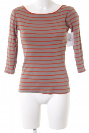 Zara Longsleeve hellbraun-orange Streifenmuster Casual-Look