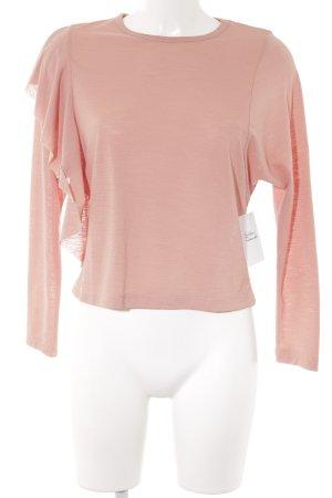 Zara Top à manches longues rose chair style décontracté