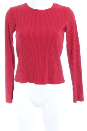Zara Longesleeve rood casual uitstraling