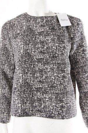 Zara Longsleeve schwarz-weiß gemustert