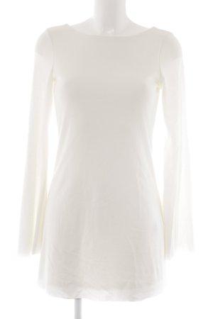 Zara Top à manches longues blanc cassé style décontracté