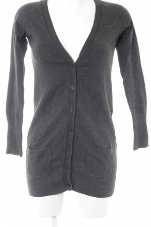 Zara Long Knitted Vest anthracite-dark brown casual look