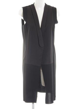 Zara Cardigan lungo smanicato nero elegante
