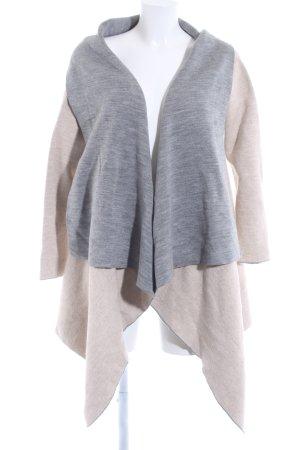 Zara Chaleco de punto largo gris-marrón arena Patrón de tejido look casual