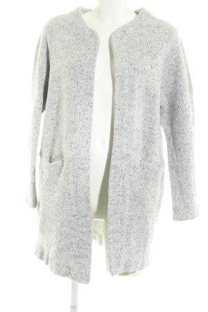 Zara Cardigan lungo smanicato grigio chiaro stile casual