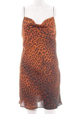 Zara Longtop orange-schwarz Animalmuster Casual-Look