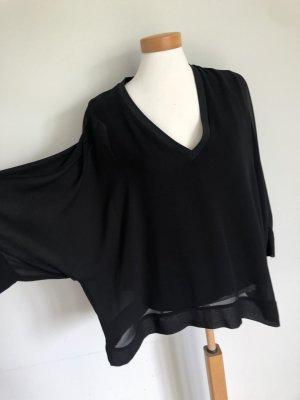 Zara Blusa tipo kimono negro