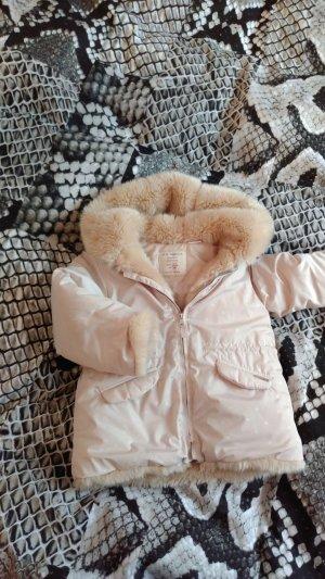 Zara Veste en fausse fourrure beige clair