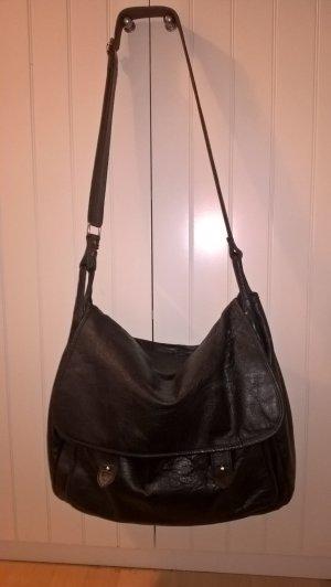 Zara Crossbody bag black leather