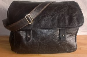 Zara Crossbody bag black-taupe leather