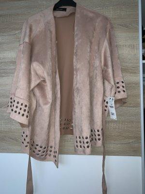 Zara Cappotto taglie forti color oro rosa