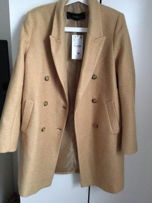 Zara Abrigo de lana beige