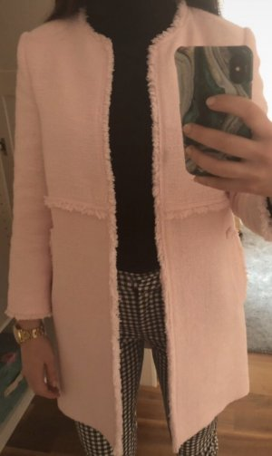 Zara Abrigo corto rosa claro-rosa