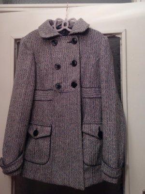 Zara Trafaluc Manteau d'hiver argenté-noir tissu mixte