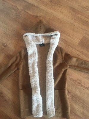 Zara Abrigo crema-marrón