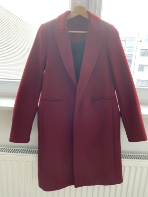 Zara Woman Wool Coat carmine-bordeaux