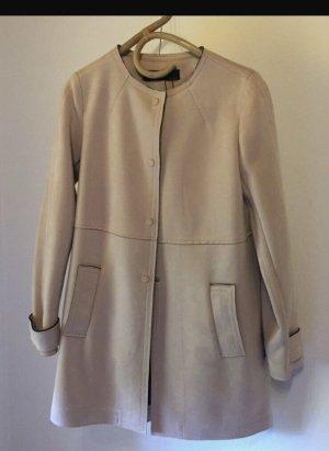 Zara Leather Coat pink suede