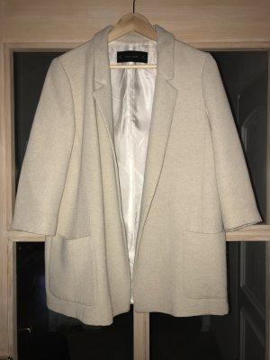 Zara Blazer lungo beige chiaro-crema