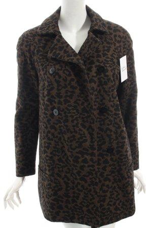Zara Mantel braun-schwarz Animalmuster klassischer Stil