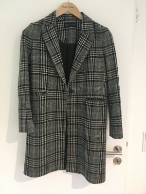 Zara Woman Abrigo de lana multicolor